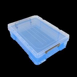 Boite de rangement, en polypropylène, 5,9l, bleue, idéale pour rangerdeux ramettes de papier A4