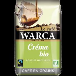 Café grains bio crema WARCA, paquet de 500g