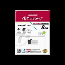 Clé USB/Micro USB TRANSCEND 8GO série 380 gris, transférer vos fichiers de votres tablette à votre pc