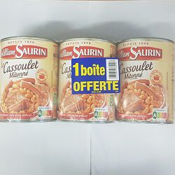 Cassoulet WILLIAM SAURIN 4/4 x2 + 1 boîte offerte, 3x840g