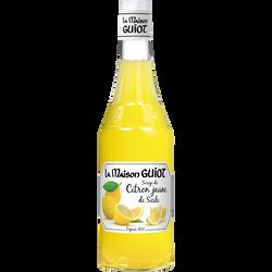 Sirop de citron jaune de Sicile la maison GUIOT, bouteille en verre de70cl