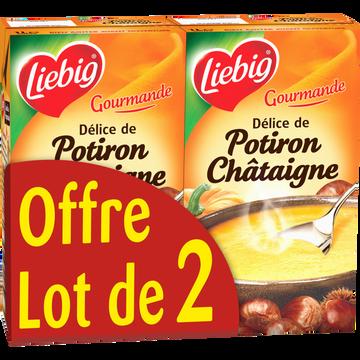 Liebig Délice De Potiron Et Châtaignes Richesse D'automne Liebig, 2 Briques De 1l