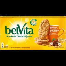 Biscuit aux céréales goût noisettes,choco.miel,Belvita LU 250g , 195g