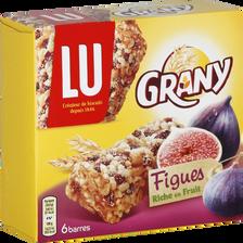 LU Barres De Céréales Aux Figues Grany, X6, 125g