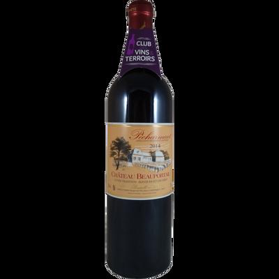 Club vins terroirs, Pécharmant AOP rouge château Beauportail c. trad,75cl