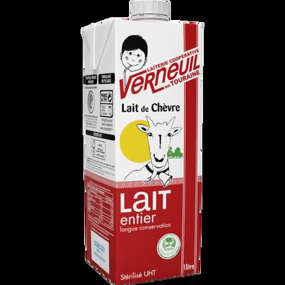 Lait UHT entier de chèvre square VERNEUIL, 6x1 litre