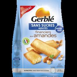 Financiers aux amandes sans sucres ajoutés GERBLE, paquet de 175g