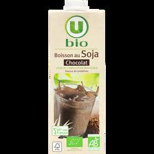 Boisson soja au chocolat U BIO, brique de 1 litre