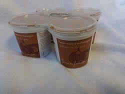 YAOURTS A LA CHATAIGNE au lait pasteurisé ferme de Froncalou, pot 4X100G