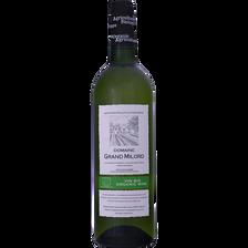 Vin blanc de pays du Gard Domaine du grand Milord, bio bouteille de 75cl