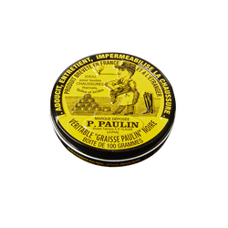 Graisse pour cuirs noire PAULIN, boîte de 100 gr