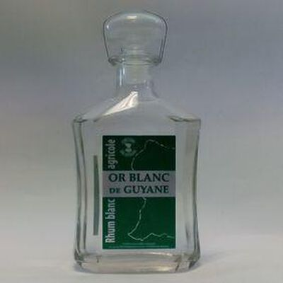 OR BLANC DE GUYANE CARAFE RHUM BLANC 70CL