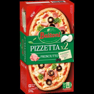 Pizza prosciutto BUITONI, 2x185g 370g