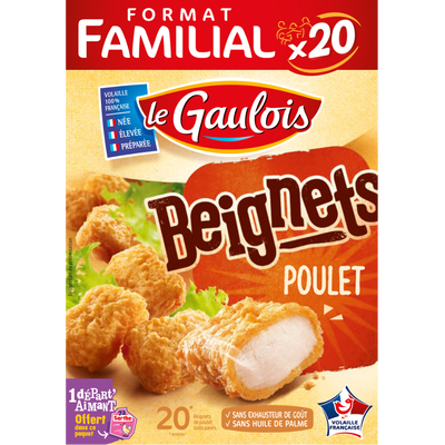 Beignet de poulet, LE GAULOIS, France, 20 pièces, étui, 400g