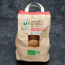 Pomme de terre Allians, de consommation à chair ferme, U BIO, cal.35/65mm, cat.2, France, sachet 2,5kg