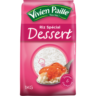 Riz rond blanc spécial dessert VIVIEN PAILLE, 1kg