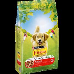 Croquettes pour chien adulte à la viande de boeuf Vitafit Active FRISKIES, 4kg