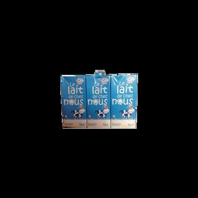 Lait demi-écrémé, LAIT DE CHEZ NOUS,6x1 litre