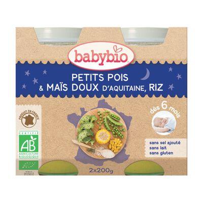BABYBIO B N PETIT POIS 2X200G