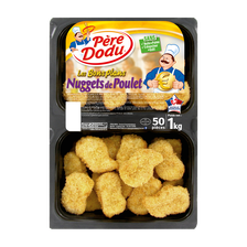 Père Dodu Nuggets De Poulet, , 50 Pièces, Barquette 1kg