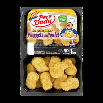 Nuggets de poulet, PERE DODU, 50 pièces, barquette 1kg
