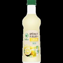 Concentré de citron U BIO, bouteille en verre de 70cl