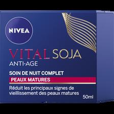 Nivea Soin Nuit Complet Anti-âge Vital Soja , Pot De 50ml