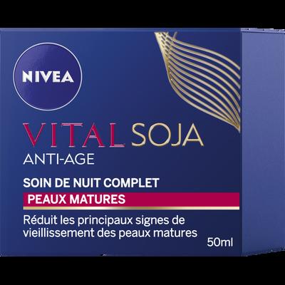 Soin nuit complet anti-âge vital soja NIVEA, pot de 50ml