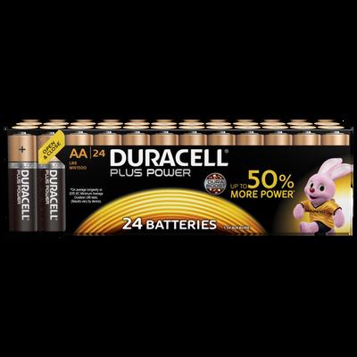 Pile DURACELL Plus Power, LR06, 24 unités