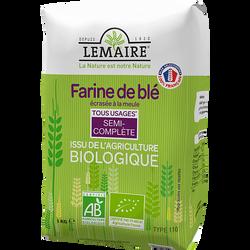 Farine semi complète bio T110 LEMAIRE, 1kg