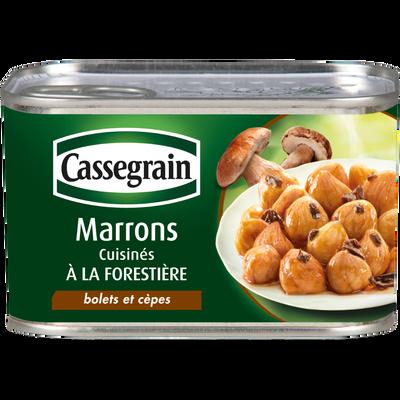 Marrons aux bolets, cèpes et persil CASSEGRAIN, 420g