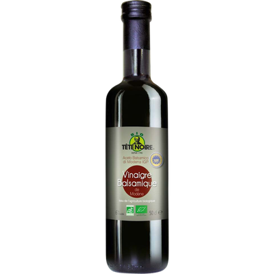 Vinaigre bio balsamique de Modène IGP TETE NOIRE, bouteille de 50cl