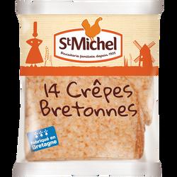 Crêpes bretonnes SAINT MICHEL, x14 soit 367g
