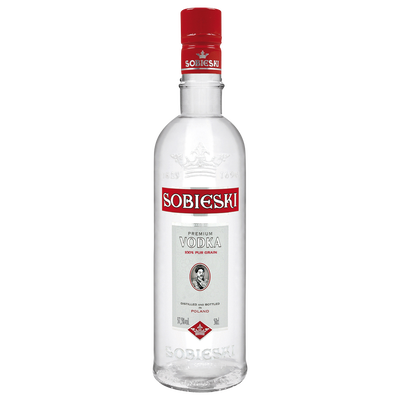 Vodka SOBIESKI, 37,5°, 50cl nouvel habillage