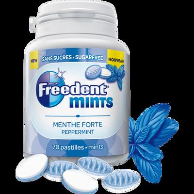 Chewing gum mints menthe forte FREEDENT, boite de 77g
