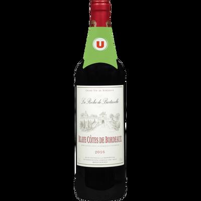 Vin rouge AOC Blaye Côtes de Bordeaux La Roche de Bartavelle U, 75cl