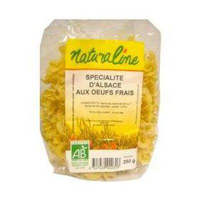 Pâtes d'Alsace aux oeufs frais NATURALINE, 250g