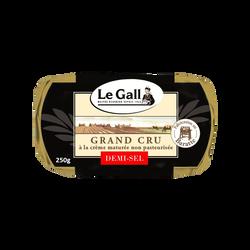 Beurre de baratte cru demi sel LE GALL, 80%mg, plaquette de 250g