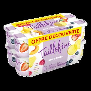 Danone Yaourts Aux Fruits 0% De Matière Grasse Taillefine, 16x125g