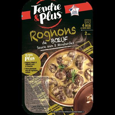 Rognons cuits aux 2 moutardes, TENDRE & PLUS, France, Barquette, 300g