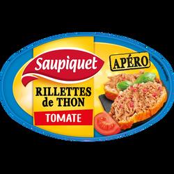 Rillettes de thon à la tomate SAUPIQUET, boîte de 115g