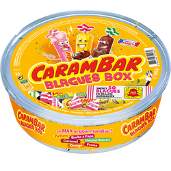 CARAMBAR blagues box, boîte de 360g