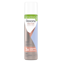 Déodorant compressé maximum protection clean REXONA, aérosol de 100ml
