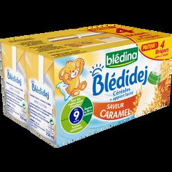 BLEDIDEJ lait et céréales saveur caramel sans gluten, dès 9 mois, 4x250ml