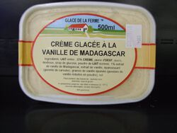 GLACE VANILLE MADAGASCAR