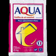 Pastilles pour adoucisseur d'eau AQUA, sac de 25kg