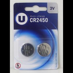 Piles U CR2450, 2 unités