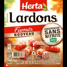 Herta Dés De Lardons Fumés Sans Nitrite , 2x75g