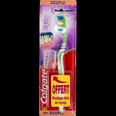 Brosse à dents souple flexible Zig Zag COLGATE