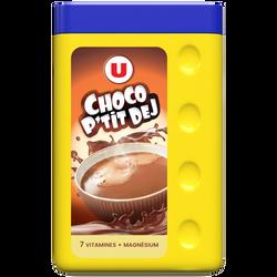Cacao poudre 7 vitamines et magnésium U, boîte de 1kg